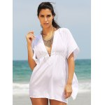 cheap Stylish Women's Plunging Neck Loose Cover Up