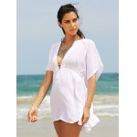 Stylish Women's Plunging Neck Loose Cover Up deal