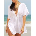 Stylish Women's Plunging Neck Loose Cover Up