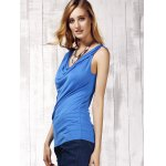 Stylish Women's Scoop Neck Sleeveless Pure Color Tank Top deal