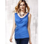 cheap Stylish Women's Scoop Neck Sleeveless Pure Color Tank Top