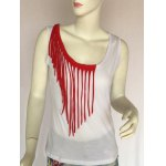 Stylish Women's Fringed Scoop Neck Tank Top