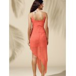 best Fashionable Spaghetti Straps Solid Color Asymmetrical Dress For Women