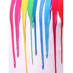 3D Colorful Vertical Splatter Paint T-Shirt photo