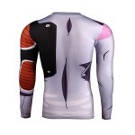 cheap Fashion Long Sleeve Color Block Pullover T-Shirt For Men