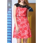A-Line Lace Spliced Dress
