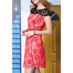 best A-Line Lace Spliced Dress