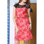A-Line Lace Spliced Dress deal