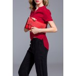 Red Buttoned Silk Top deal