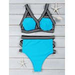 Chic Blue Hollow Out Bikini Suit Swimwear
