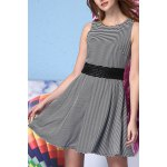 White and Black Striped Dress deal