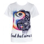 Women's Chic Round Neck Letter Print Short Sleeve T-Shirt