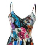 Fashion Cami High Waisted Backless Print Maxi Dress For Women deal