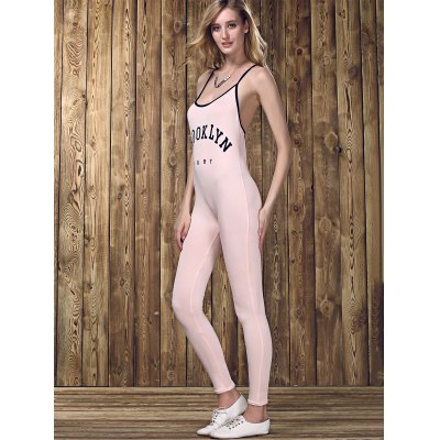 Stylish Strappy Backless Letter Print Jumpsuit  For WomenWomens Clothing<br>Stylish Strappy Backless Letter Print Jumpsuit  For Women<br><br>Material: Polyester<br>Fit Type: Regular<br>Pattern Type: Print<br>Style: Fashion<br>Season: Summer<br>With Belt: No<br>Weight: 0.168kg<br>Package Contents: 1 x Dress