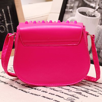 Trendy Studded and Solid Color Design Crossbody Bag For Women