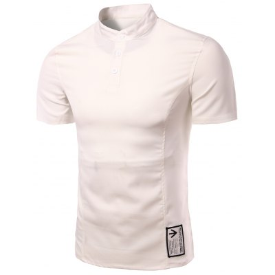 Solid Color Henley Shirt