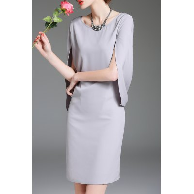 Sheath Split Sleeve Dress