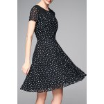 cheap Polka Dot Chiffon Dress