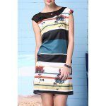 Straight Striped Printed Dress deal