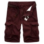 Men's Casual Loose Fit Multi-Pockets Cargo Shorts
