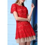 A-Line Voile Spliced Dress deal