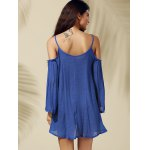 best Stylish Strappy Cold Shoulder Solid Color Dress For Women
