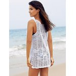 best Basic U Neck Sleeveless Crochet Pattern Pure Color Cover-Up For Women