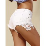 Fashionable Pocket Design Lace Spliced Fringed Women's Shorts deal