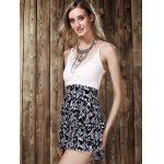 Stylish Strappy Lace Panelled Backless Romper For Women deal
