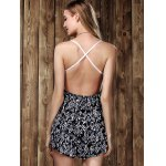 best Stylish Strappy Lace Panelled Backless Romper For Women