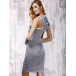 Stylish Hooded Cross Back Cut Out Dress For Women deal