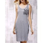 Stylish Hooded Cross Back Cut Out Dress For Women