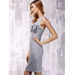 cheap Stylish Hooded Cross Back Cut Out Dress For Women