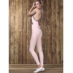 Stylish Strappy Backless Letter Print Jumpsuit  For Women deal