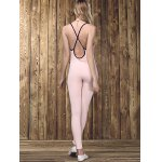 Stylish Strappy Backless Letter Print Jumpsuit  For Women for sale