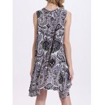 Fashion Round Neck Cut Out Print Loose Dress For Women deal