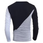 Fashionable Round Neck Classic Color Splicing Slimming Long Sleeves Men's T-Shirt deal