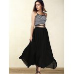 best Trendy Spaghetti Strap Striped Lace-Up Women's Crop Top