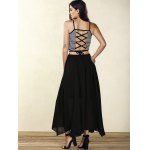 Trendy Spaghetti Strap Striped Lace-Up Women's Crop Top photo