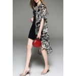 Printed Asymmetric Shirt Dress and Tank Top Twinset for sale