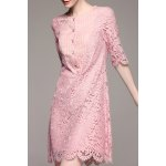 cheap Sheath Mini Lace Dress