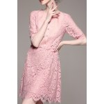 Sheath Mini Lace Dress