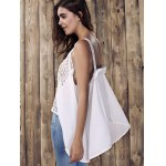 Hollow Out High Low Tank Top deal