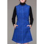 Stand Collar Jacquard Worsted Dress