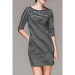 Striped Double Pockets Mini Dress deal