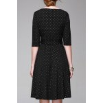 cheap V Neck Polka Dot Print Half Sleeve Dress