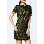 Polo Collar Lace Dress and Tank Top Twinset deal