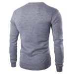 cheap Color Block PU Leather Splicing Round Neck Long Sleeves Sweatshirt For Men
