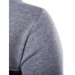 Color Block PU Leather Splicing Round Neck Long Sleeves Sweatshirt For Men deal