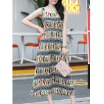 cheap Elegant Colorful Animal Print Long Dress For Women